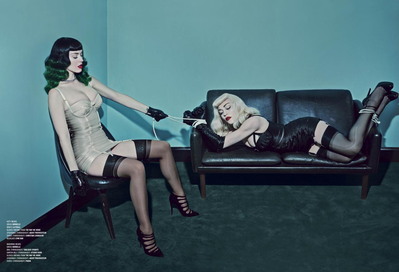 V MAGAZINE'DE MADONNA VE KATY PERRY (Madonna & Katy Perry by Steven Klein for V Magazine photoshoots)