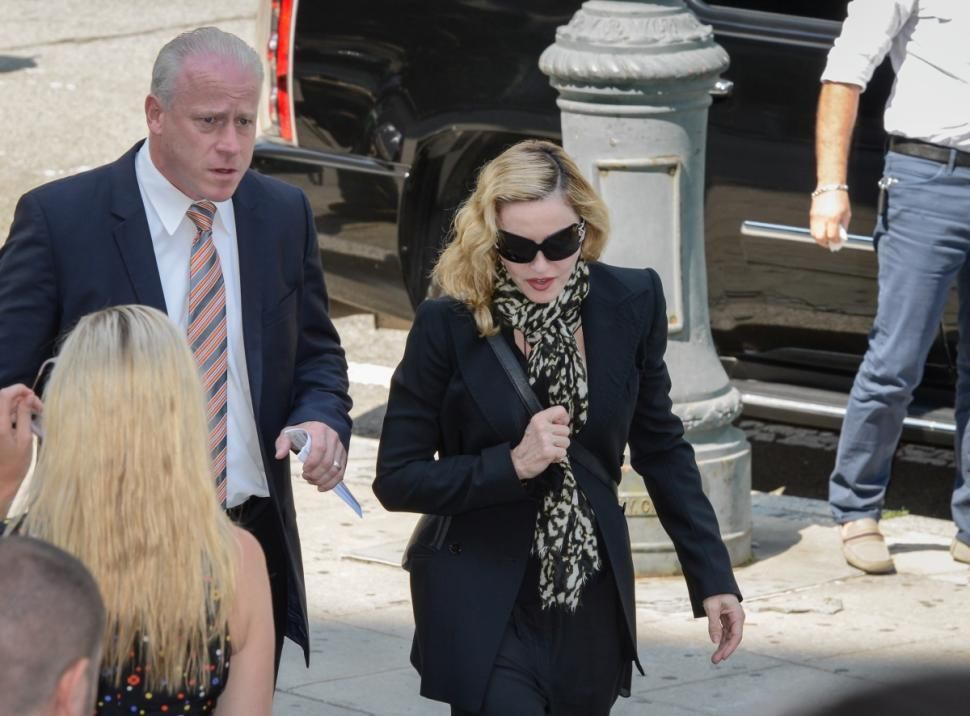 Madonna New York'ta mahkemeye giderken görüntülendi. 07.07.2014