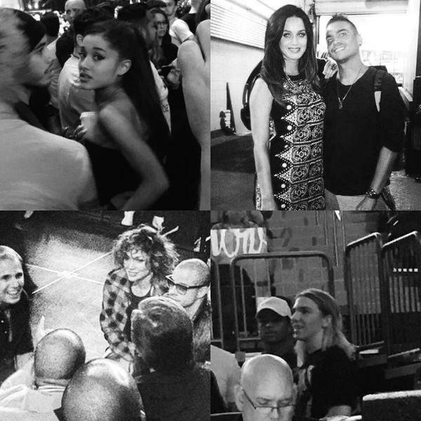 Ariana Grande, Jennifer Lopez ve Katy PerryMadonna'nınRebel Heart konserini izlemeye gitti.