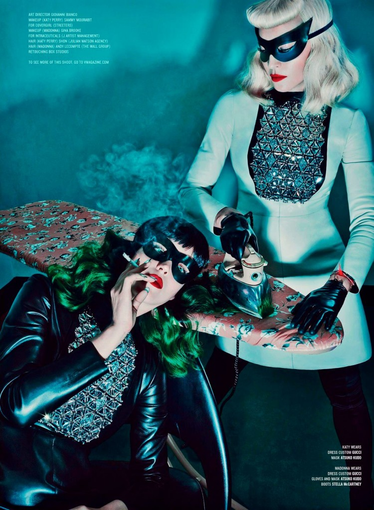 HQ Madonna & Katy Perry by Steven Klein for V Magazine #7