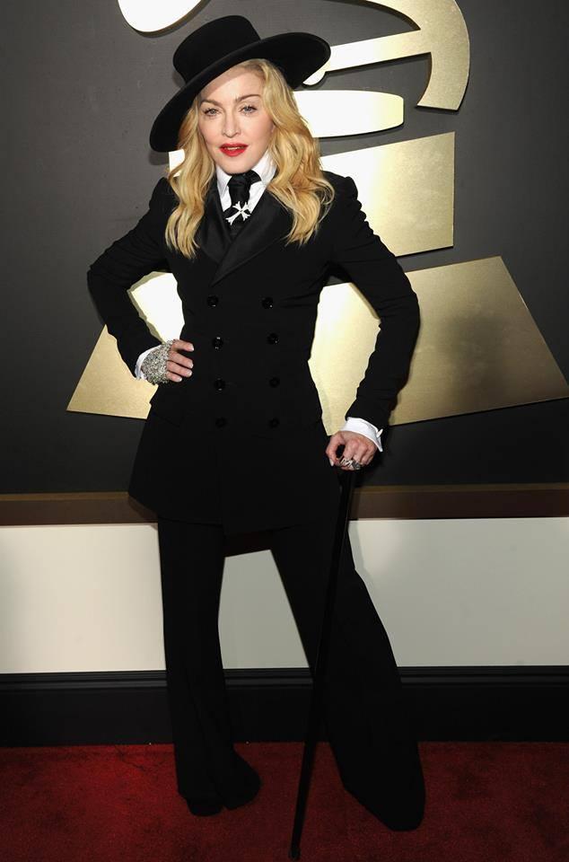 Madonna 56.Grammy Müzik Ödül Töreni'ne katıldı.