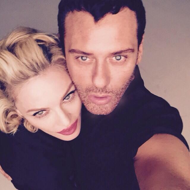 Madonna ve Mert Alaş çekim yapıyor