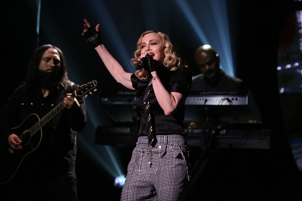 "Madonna at Jimmy Fallon ""Borderline"" HD"