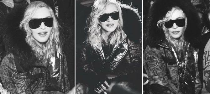 Madonna, New York Moda Haftası kapsamında Philipp Plein defilesine katıldı.