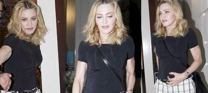 Madonna dün gece oğlu Rocco ile restoran çıkışında görüntülendi. 13 Eylül 2016