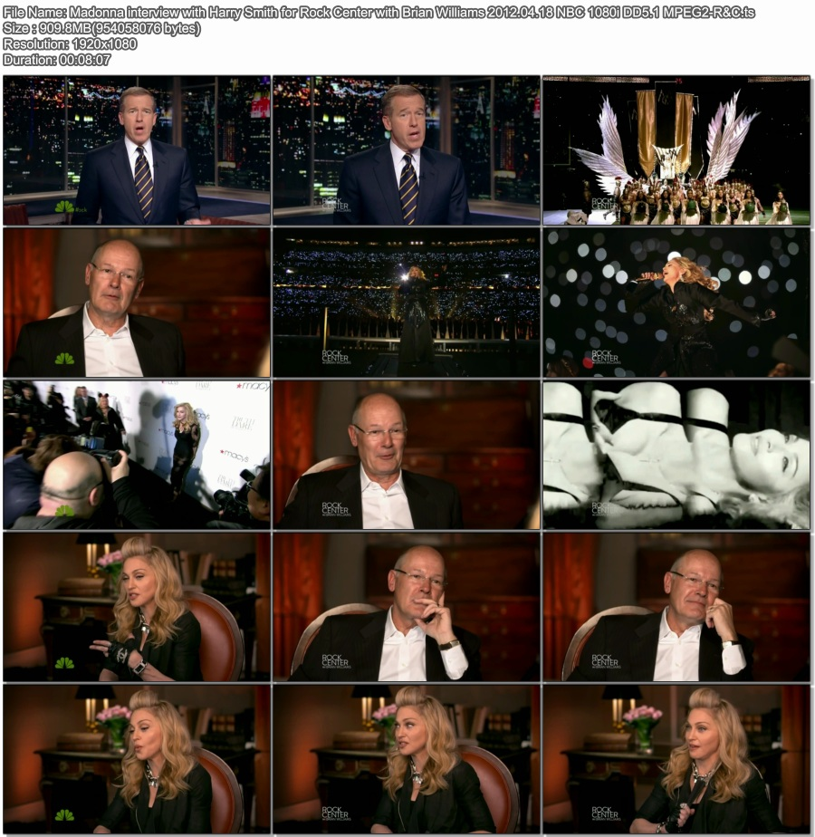 Madonna interview with Harry Smith for Rock Center with Brian Williams 2012.04.18 NBC 1080i DD5.1 MPEG2-R&C