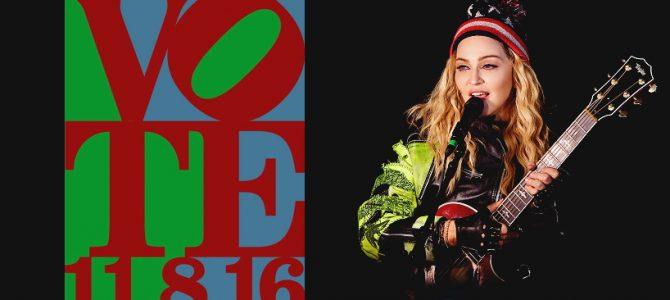 Madonna, Hillary Clinton'ı desteklemek için Washington Square Park'da sahneye çıktı.