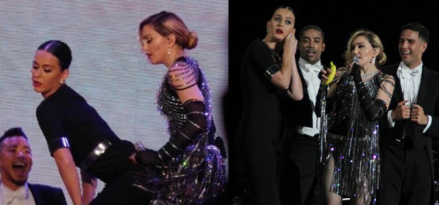 [Pictures & Videos] Madonna Rebel Heart Tour concert in Las Vegas 27.10.2014 Katy Perry