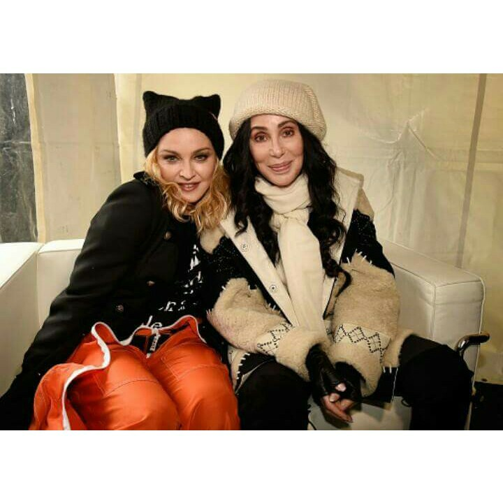 madonna and cher Women's March 2017