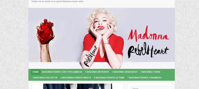 madonnaturkiye.com'un tasarımı değişti.